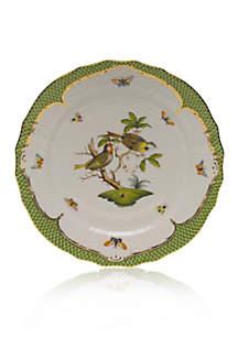 Rothschild Bird Green Border Service Plate - Motif #11