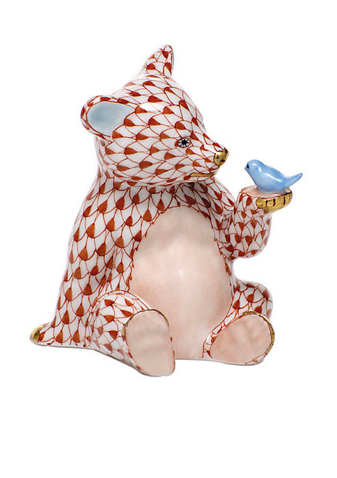 Herend Bear with Bird