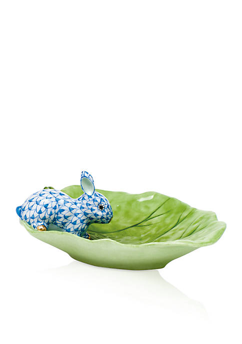 Herend Bunny on Cabbage Leaf
