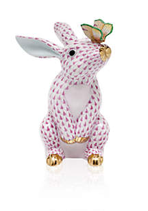 Bunny with Butterfly - Raspberry