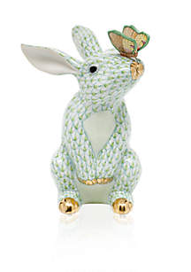 Bunny with Butterfly - Key Lime