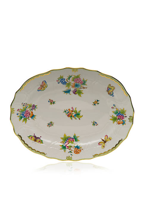 Herend Green Border Platter