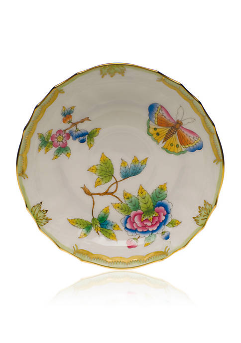 Herend Queen Victoria Green Border Canton Saucer