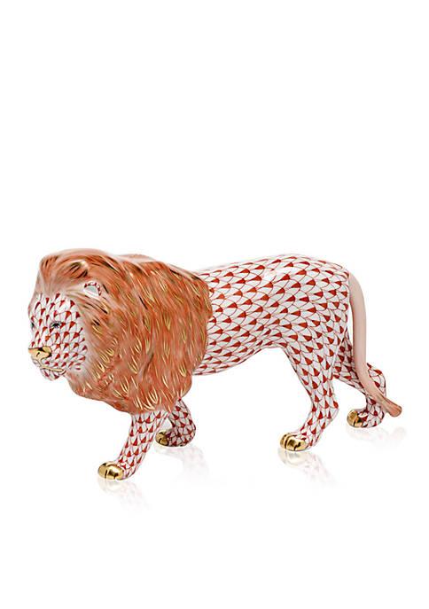 Standing Lion - Rust