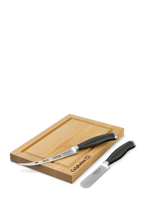 Calphalon® Cutlery 3-Piece Cheese Knife & Board Set