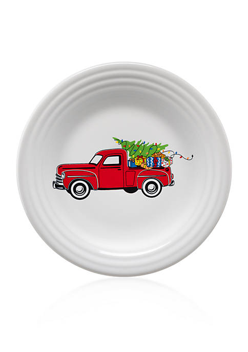 Fiesta 174 Holiday Farm Truck Luncheon Plate Belk