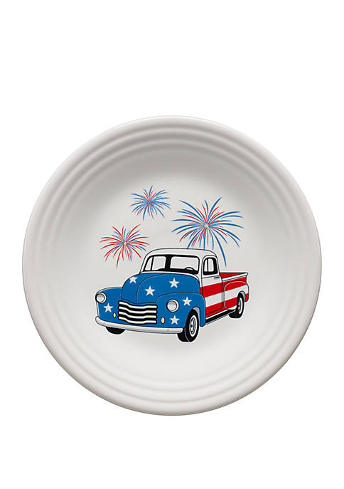 Americana Farm Truck Luncheon Plate