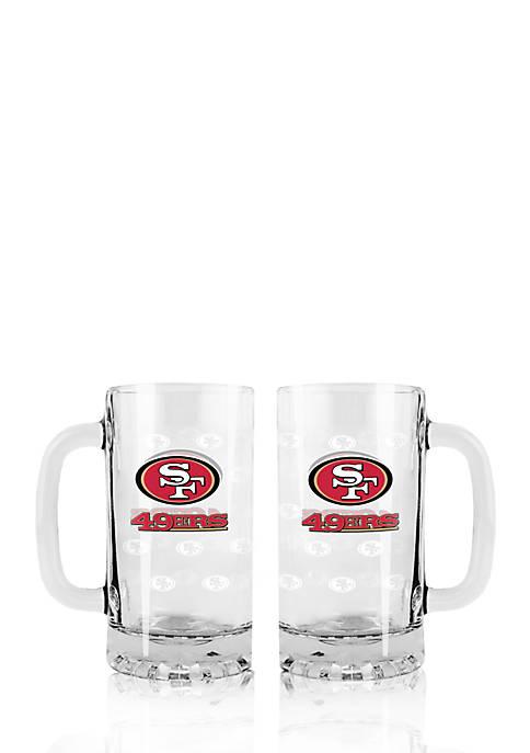 16-oz. NFL San Francisco 49ers 2-pack Glass Tankard Set