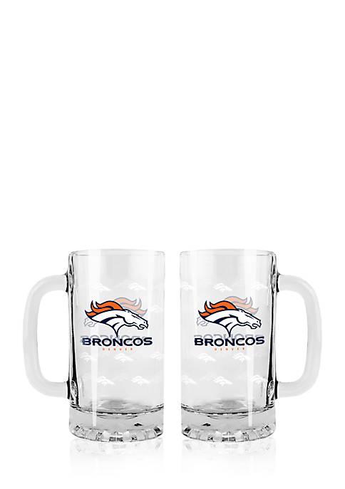 Boelter 16-oz. NFL Denver Broncos 2-pack Glass Tankard