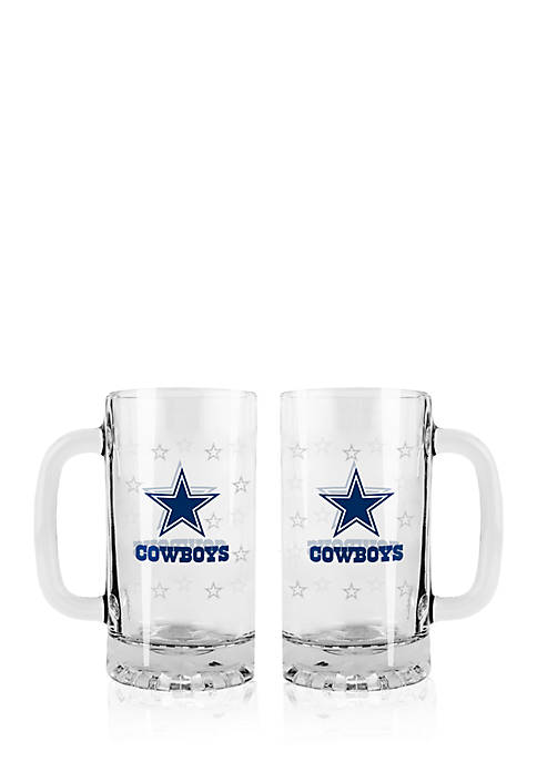 16-oz. NFL Dallas Cowboys 2-pack Glass Tankard Set