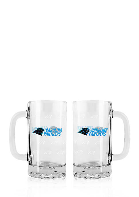 Boelter 16-oz. NFL Carolina Panthers 2-pack Glass Tankard