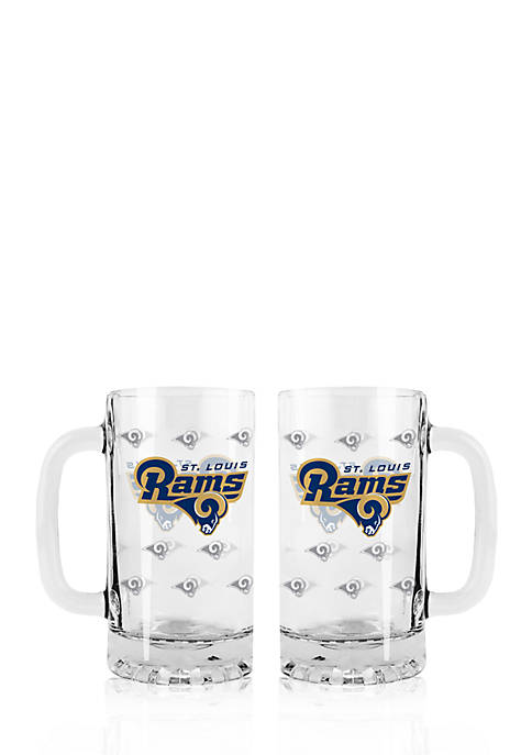 16-oz. NFL St. Louis Rams 2-pack Glass Tankard Set