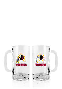 16-oz. NFL Washington Redskins 2-pack Glass Tankard Set