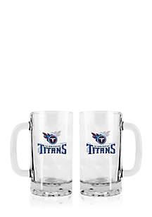 16-oz. NFL Tennessee Titans 2-pack Glass Tankard Set
