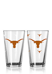 16-oz. NCAA Texas Longhorns 2-pack Color Changing Pint Glass Set