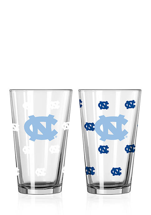 16-oz. NCAA UNC Tar Heels 2-pack Color Changing Pint Glass Set