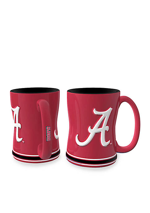 14-oz. NCAA Alabama Crimson Tide 2-Pack Relief Sculpted Coffee Mug Set