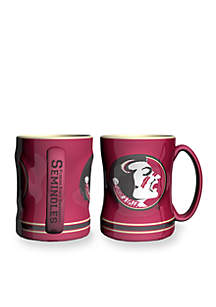 14-oz. NCAA Florida State Seminoles 2-pack Relief Sculpted Coffee Mug Set