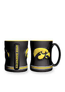 14-oz. NCAA Iowa Hawkeyes 2-pack Relief Sculpted Coffee Mug Set