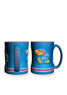 14-oz. NCAA Kansas Jayhawks 2-Pack Relief Sculpted Coffee Mug Set
