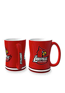 14-oz. NCAA Louisville Cardinals 2-pack Relief Sculpted Coffee Mug Set