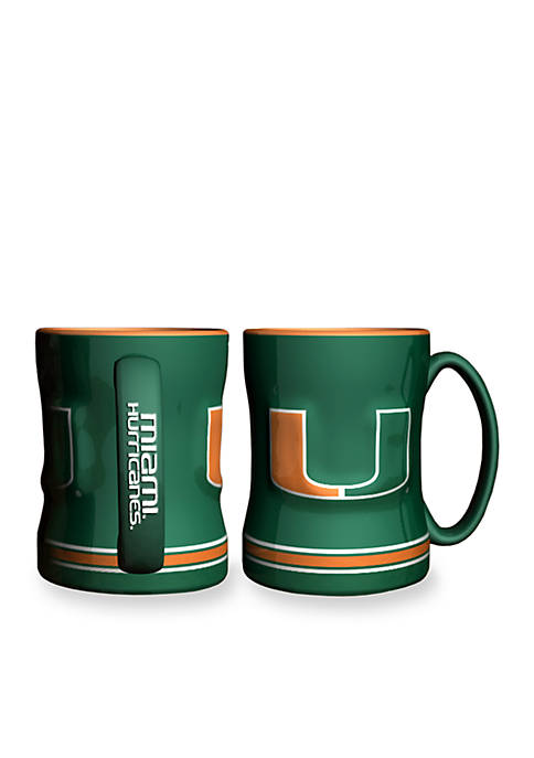 Boelter 14-oz. NCAA Miami Hurricanes 2-pack Relief Sculpted