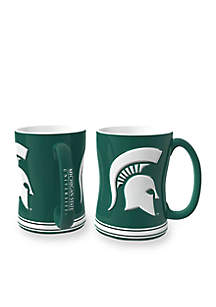 14-oz. NCAA Michigan State Spartans 2-pack Relief Sculpted Coffee Mug Set