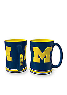 14-oz. NCAA Michigan Wolverines 2-Pack Relief Sculpted Coffee Mug Set