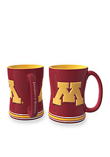 14-oz. NCAA Minnesota Gophers 2-pack Relief Sculpted Coffee Mug Set