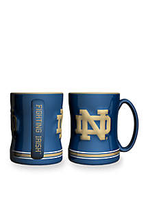 14-oz. NCAA Notre Dame Fighting Irish 2-pack Relief Sculpted Coffee Mug Set