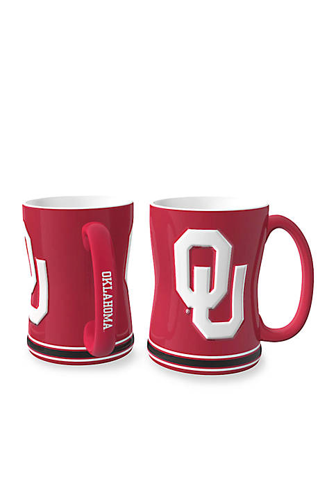 14-oz. NCAA Oklahoma Sooners 2-pack Relief Sculpted Coffee Mug Set