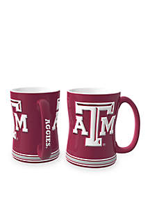14-oz. NCAA Texas A & M Aggies 2-Pack Relief Sculpted Coffee Mug Set