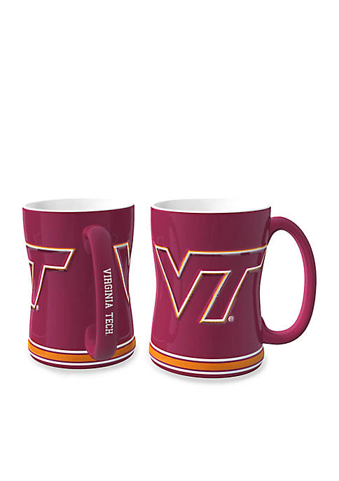 14-oz. NCAA VA Tech Hokies 2-pack Relief Sculpted Coffee Mug Set