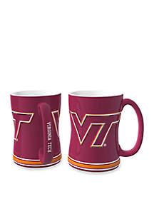 14-oz. NCAA VA Tech Hokies 2-pack Relief Sculpted Coffee Mug Set