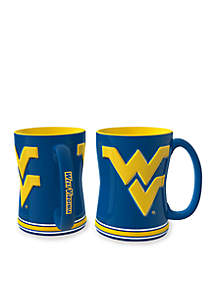 14-oz. NCAA West Virginia Mountaineers 2-Pack Relief Sculpted Coffee Mug Set