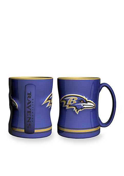 Boelter 14-oz. NFL Baltimore Ravens 2-pack Relief Sculpted