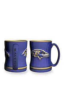 14-oz. NFL Baltimore Ravens 2-pack Relief Sculpted Coffee Mug Set