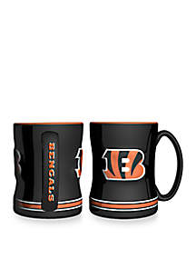14-oz. NFL Cincinnati Bengals 2-Pack Relief Sculpted Coffee Mug Set