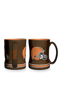 14-oz. NFL Cleveland Browns 2-pack Relief Sculpted Coffee Mug Set