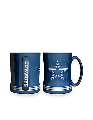 9250539b6 Boelter 14-oz. NFL Dallas Cowboys 2-pack Relief Sculpted Coffee Mug ...