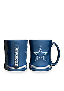 14-oz. NFL Dallas Cowboys 2-pack Relief Sculpted Coffee Mug Set