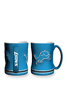 14-oz. NFL Detroit Lions 2-Pack Relief Sculpted Coffee Mug Set