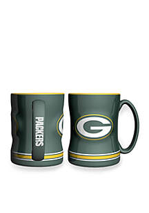 14-oz. NFL Green Bay Packers 2-pack Relief Sculpted Coffee Mug Set