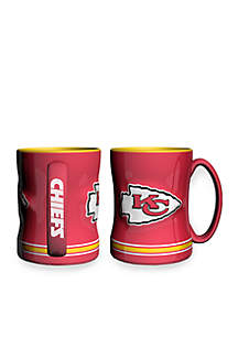 14-oz. NFL Kansas City Chiefs 2-pack Relief Sculpted Coffee Mug Set