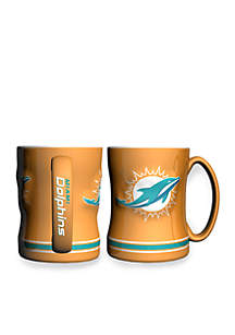 14-oz. NFL Miami Dolphins 2-Pack Relief Sculpted Coffee Mug Set