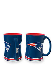 14-oz. NFL New England Patriots 2-pack Relief Sculpted Coffee Mug Set