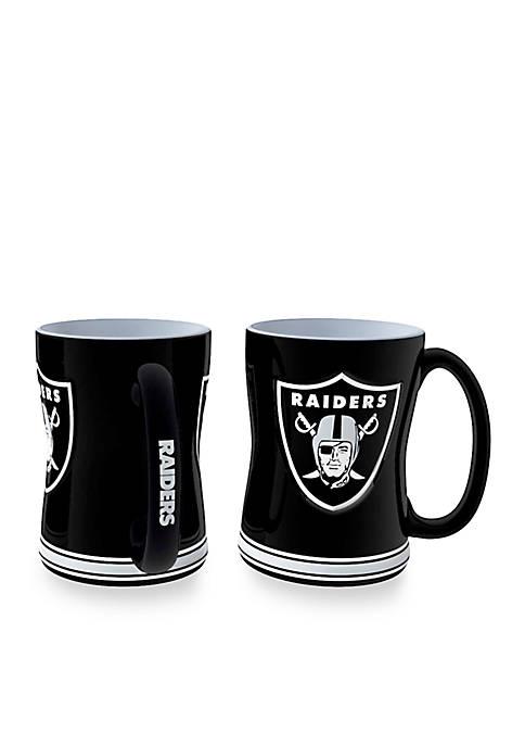 14-oz. NFL Oakland Raiders 2-pack Relief Sculpted Coffee Mug Set