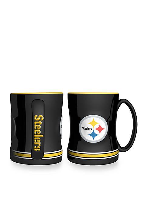 14-oz. NFL Pittsburgh Steelers 2-pack Relief Sculpted Coffee Mug Set