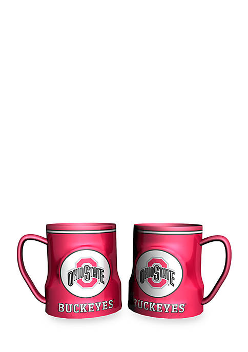 NCAA Ohio State Buckeyes 2-pack Gametime Coffee Mug Set