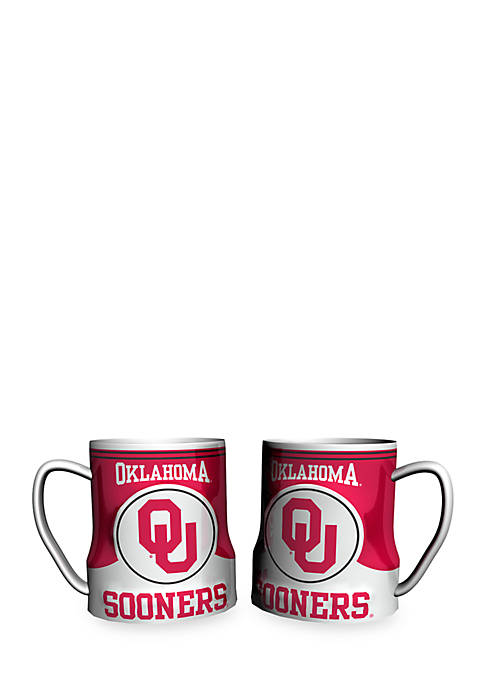 NCAA Oklahoma Sooners 2-pack Gametime Coffee Mug Set